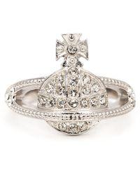 Vivienne Westwood 'Mini Orb' Ring silver - Lyst