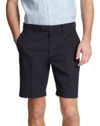 Theory Sten Flat-Front Shorts blue - Lyst