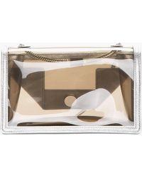 Saint Laurent - Silver Trim Transparent Mini Betty Shoulder Bag - Lyst