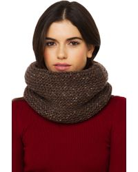 Akira Black Label - Thick Knit Infinity Snood - Brown - Lyst