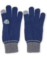 Ben Sherman Color Block Knit Gloves - Lyst