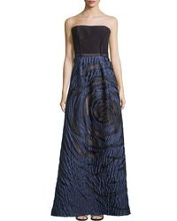 Carolina Herrera | Faille/jacquard Strapless Gown | Lyst
