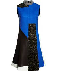 Proenza Schouler Textured Leather Sleeveless Patchwork Dress - Lyst