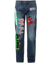 Marc By Marc Jacobs Stevie Motocross-patch Boyfriend Jeans - Lyst