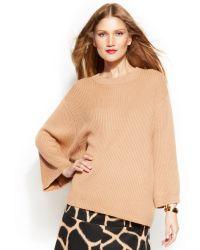 Michael Kors Ribbed Drop Shoulder Sweater - Lyst