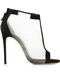 Casadei Mesh Panel Sandals - Lyst