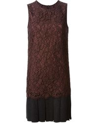 Dolce & Gabbana Floral Lace Dress - Lyst