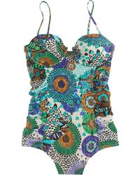 J.Crew Abstract Giraffe Ruched Underwire One-Piece Swimsuit - Lyst