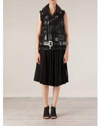 Junya Watanabe Biker Style Panellled Gillet - Lyst