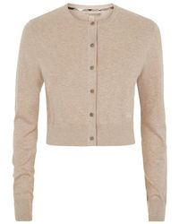Burberry Brit Cropped Cardigan - Lyst
