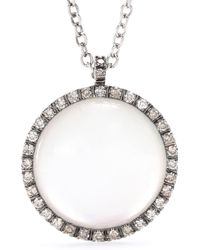 Roberto Marroni - 18kt White Gold Necklace With Sunflower Quartz And Brown Diamonds - Lyst