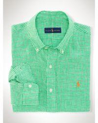 Polo Ralph Lauren Gingham Linen Sport Shirt - Lyst