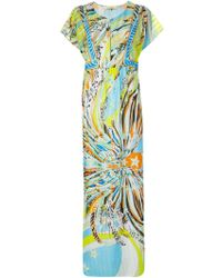 Emilio Pucci Shortsleeved Printed Dress - Lyst