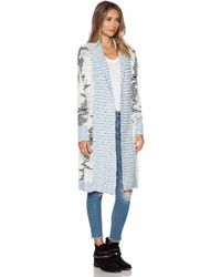 Sam Edelman Marled Sweater Coverup - Lyst