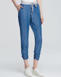 Splendid - Chambray Drawstring Trousers - Lyst