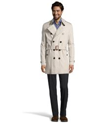 Burberry Stone Cotton Double Breasted 'Britton' Trench - Lyst