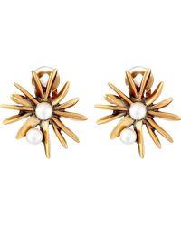 Oscar de la Renta Starburst Button C Earrings - Lyst