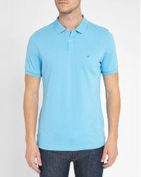 Calvin Klein | Sky-blue Pete Logo Polo Shirt | Lyst