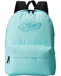Vans Realm Backpack green - Lyst