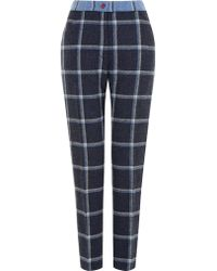 House Of Holland Tweed Cigarette Trousers - Lyst