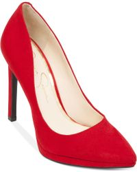 Jessica Simpson Red Brynn Pumps - Lyst