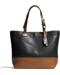 Coach Small Holdall in Colorblock Leather - Lyst