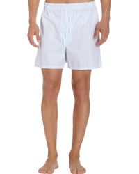 Barneys New York Dress Stripe Boxer Shorts - Lyst