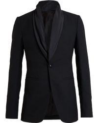 Rick Owens Scarf Collar Jacket - Lyst