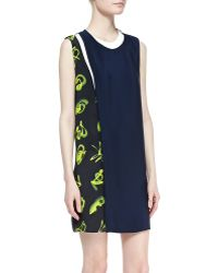 3.1 Phillip Lim Sleeveless Printpaneled Shift Dress - Lyst