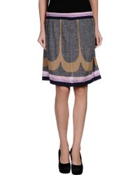 M Missoni Knee Length Skirt - Lyst