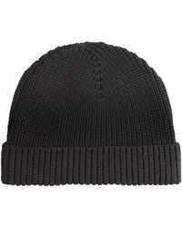 Sandro - Frost Ribbed Beanie Hat - Lyst