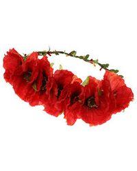 Topshop Poppy Flower Hair Garland - Lyst