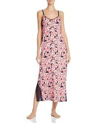 Midnight By Carole Hochman - Floral Long Nightgown - Lyst