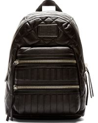 Marc By Marc Jacobs Black Quilted Leather Domo Biker Backpack - Lyst
