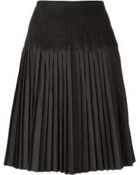 Ferragamo Accordion Pleat Skirt - Lyst