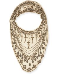 Haute Hippie - Embellished Bib Neckpiece - Lyst