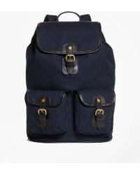 Brooks Brothers | Canvas Backpack | Lyst