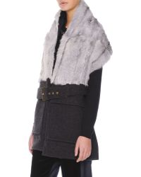 Marni Belted Goat-fur-collar Vest - Lyst