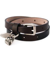 Alexander McQueen | Double Wrap Skull Bracelet | Lyst