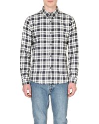 A.P.C. Checked Flannel Shirt - Lyst