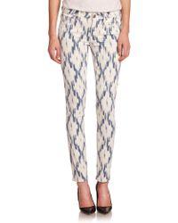 Paige Verdugo Printed Skinny Jeans - Lyst