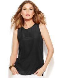Michael Kors Michael Sleeveless High-Low Blouse - Lyst