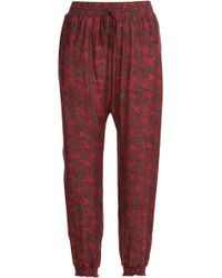 Anna Sui Printed Harem Pants - Lyst