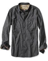 Banana Republic Heritage Black Denim Utility Shirt - Lyst