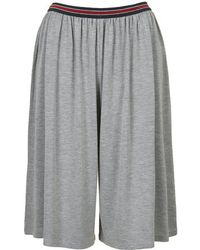 Topshop Sporty Jersey Culottes - Lyst