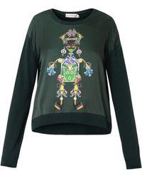 Mary Katrantzou Knipi Tikki Man Sweater - Lyst