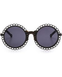 Preen Chantilly Sunglasses - Black Marble Tortsmoke Mono - Lyst