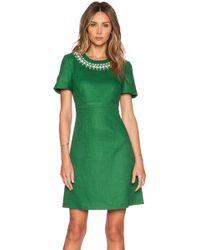 Kate Spade Embellished Bell Sleeve Dress - Lyst
