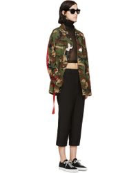 Off White C/o Virgil Abloh Green Camo Military Jacket - Lyst