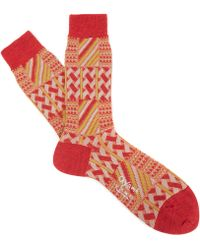 Ayamé - Red Grater Socks - Lyst